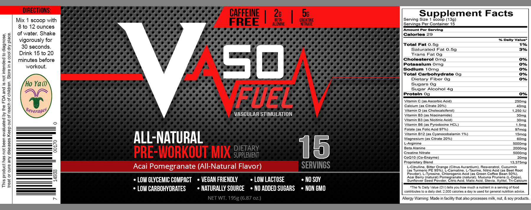 Vaso Fuel Ultimate Workout Enhancement Drink Mix Free Sample